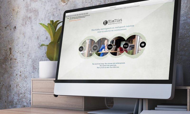 WordPress Webdesign voor KimTikt van studio SNH