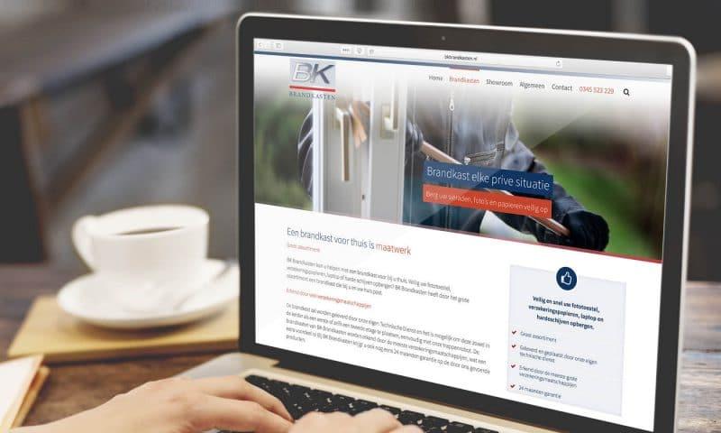 WordPress webdesign BK Brandkasten door studio SNH