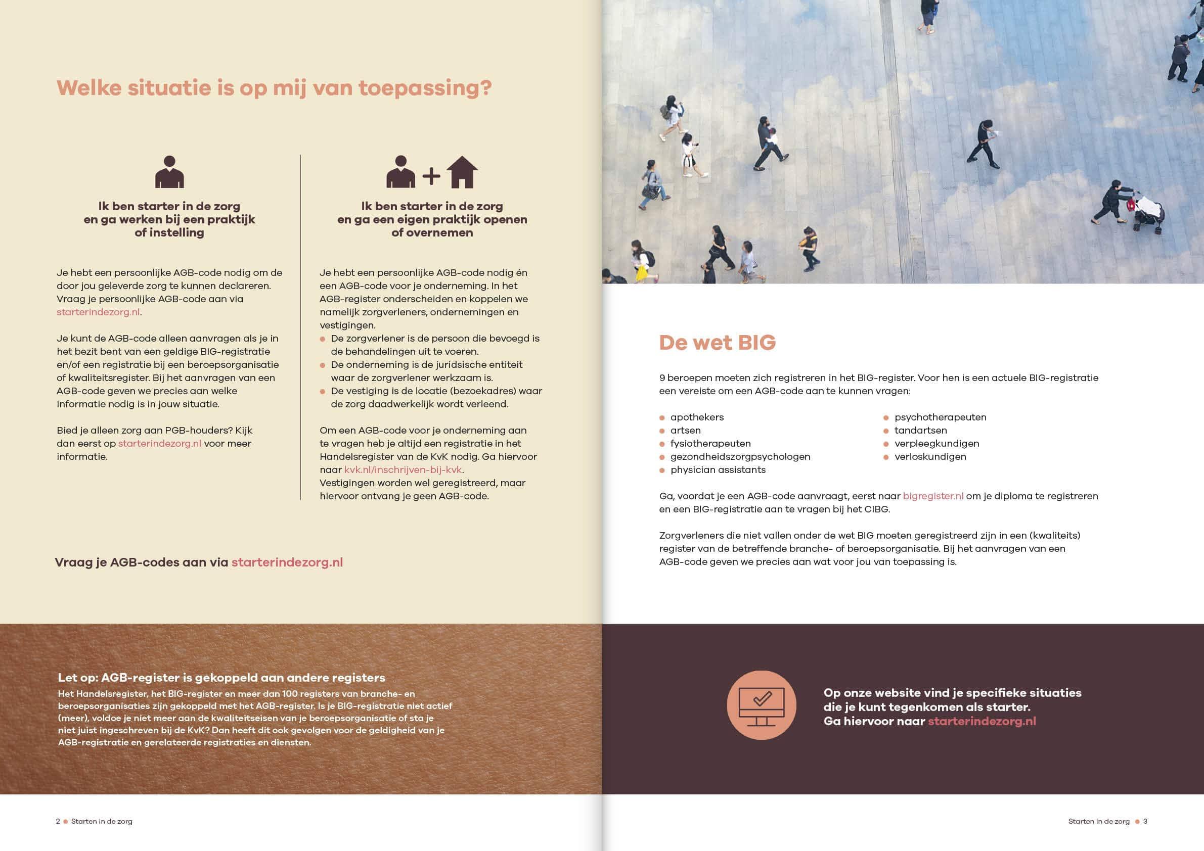 Ontwerp brochure starten in de zorg Vektis door snhontwerp - spread-2-3