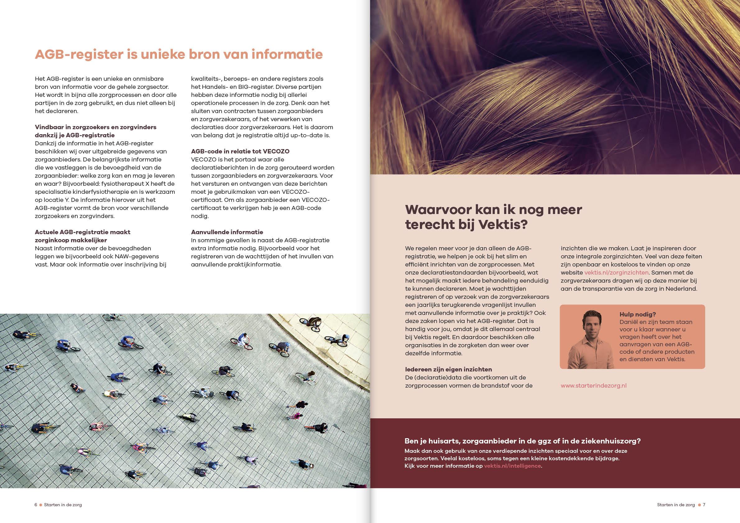 Ontwerp brochure starten in de zorg Vektis door snhontwerp - spread-6-7