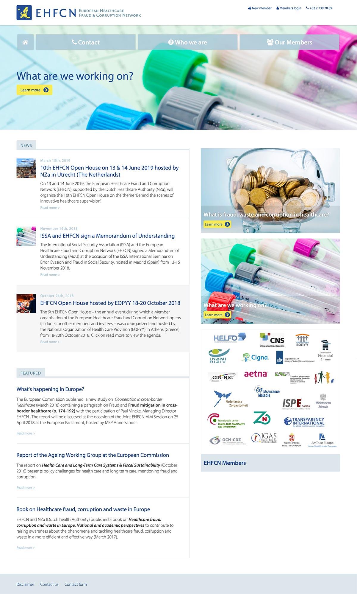 EHFCN-homepage-Wedbesign-WordPress---SH-grafisch-ontwerp