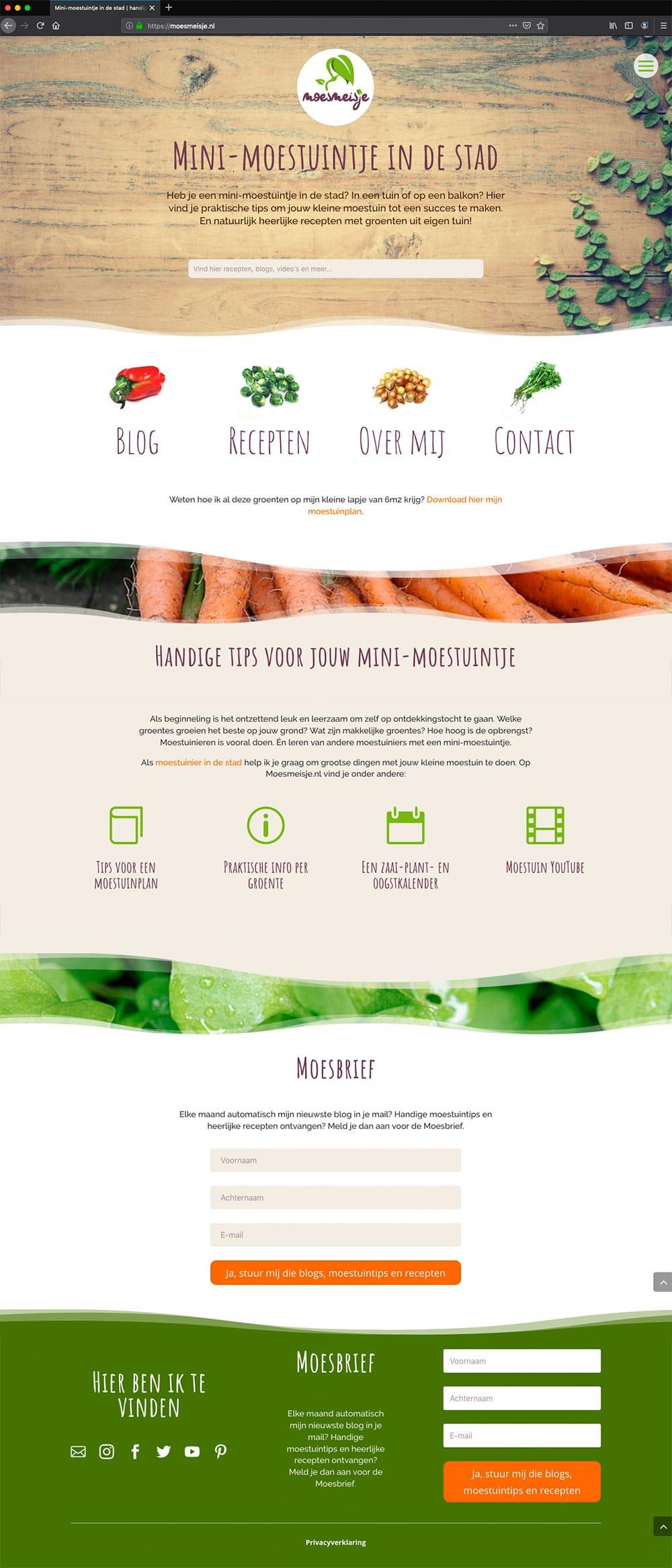 Homepage-Moesmeisje---Divi---studio-SH-webdesign