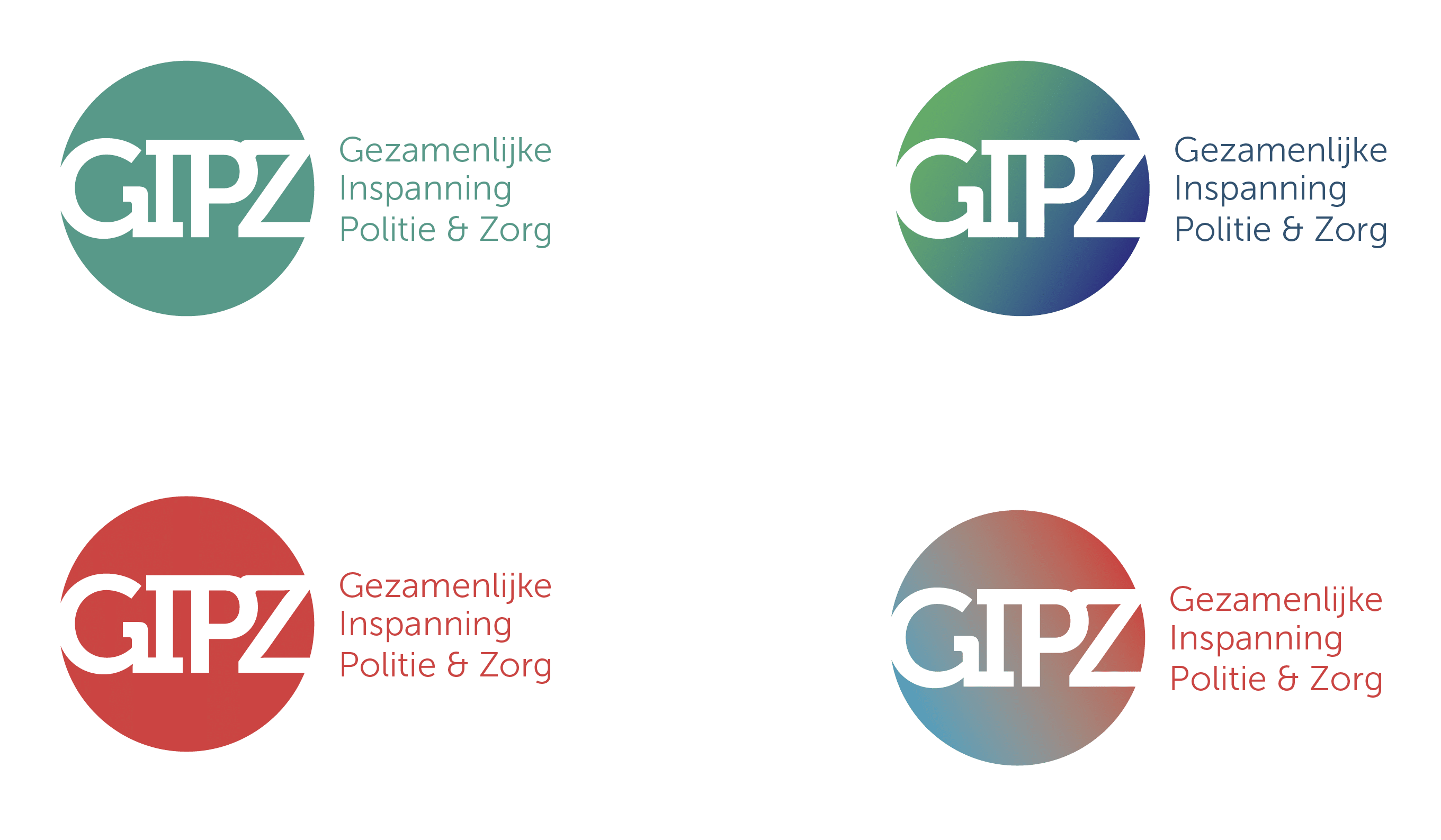 Kleurenpallet logo GIPZ - studio S&H Grafisch Ontwerp
