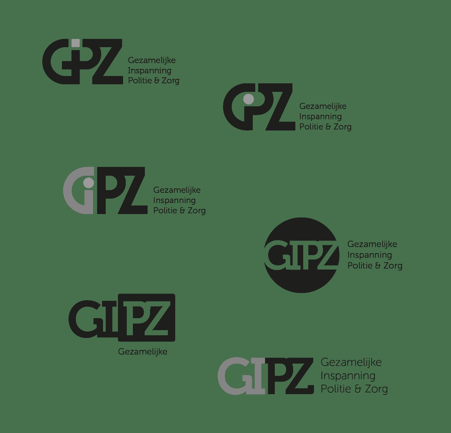Schets logo GIPZ - studiosnh Grafisch Ontwerp