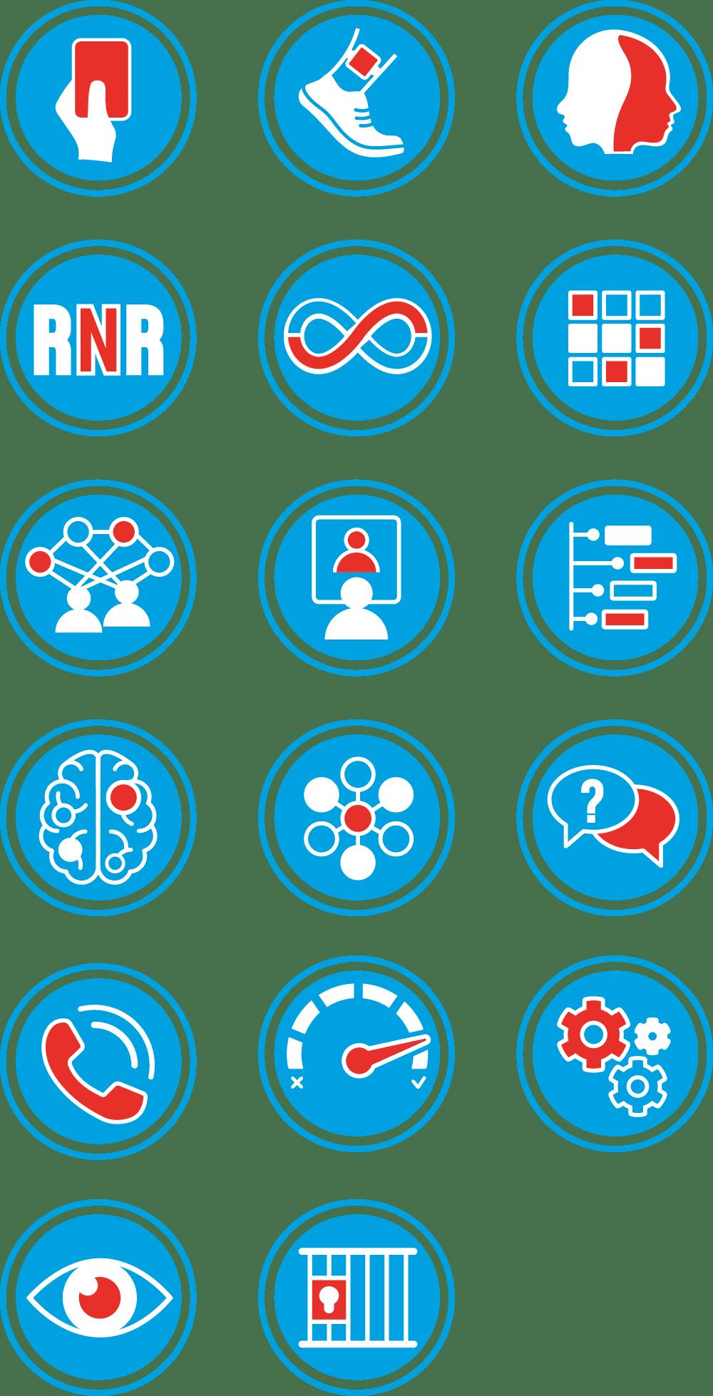 Iconen in huisstijl voor iPDF Hogeschool Utrecht