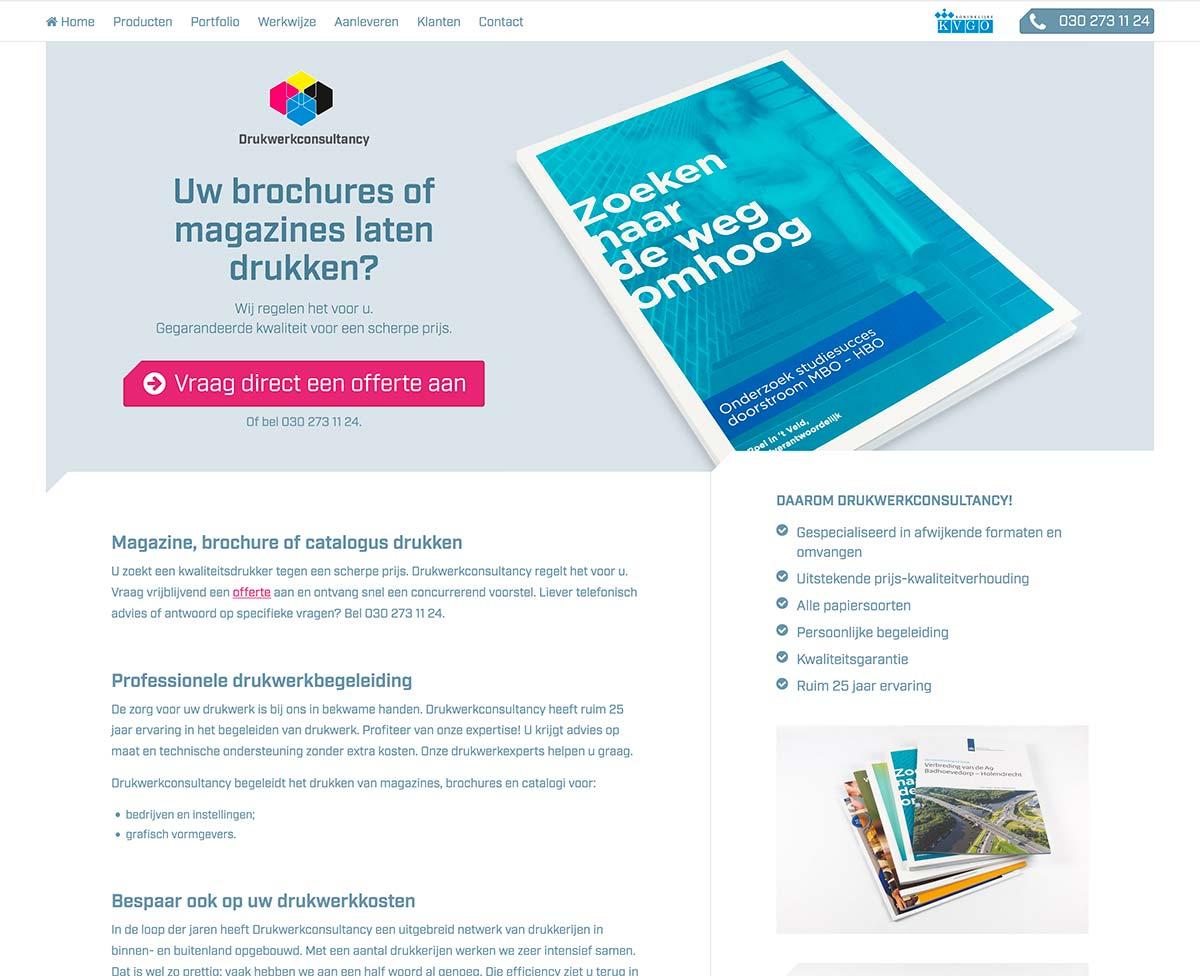 Website Magazines Landingspagina DWC_studiosnh grafisch ontwerp