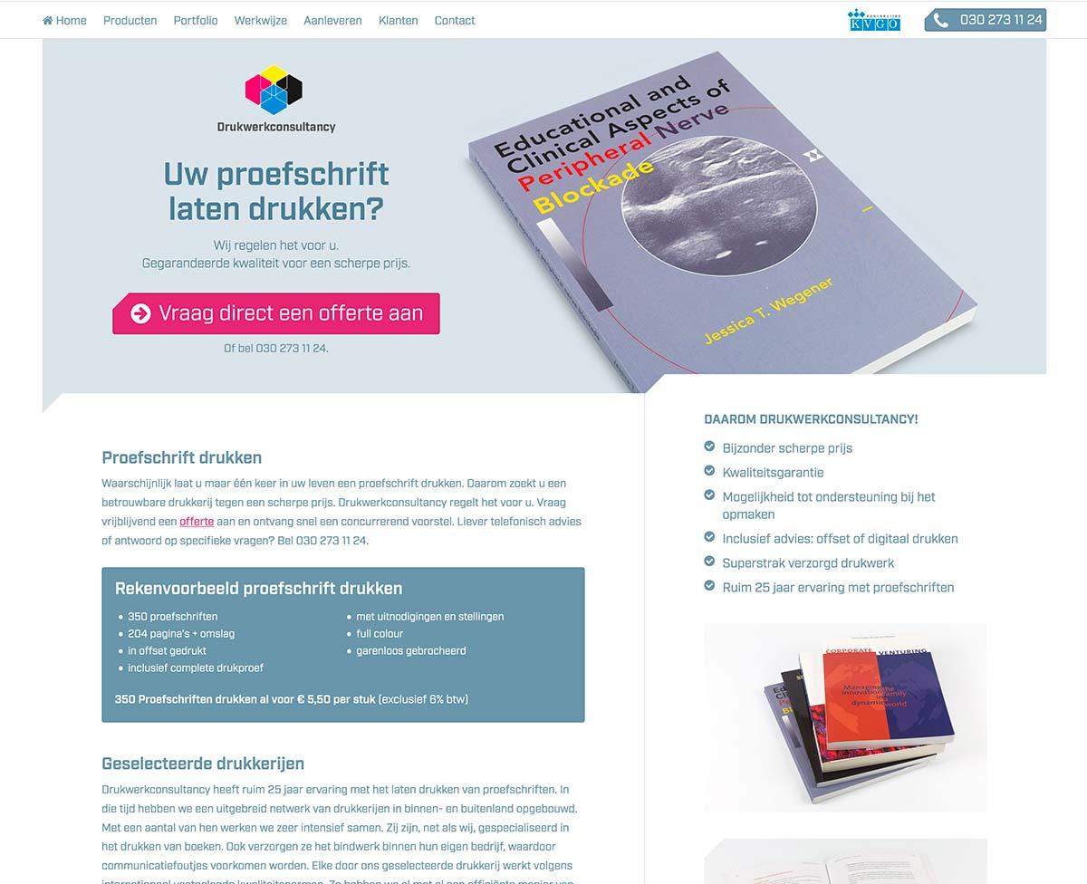 Website proefschrift Landingspagina DWC_studiosnh grafisch ontwerp