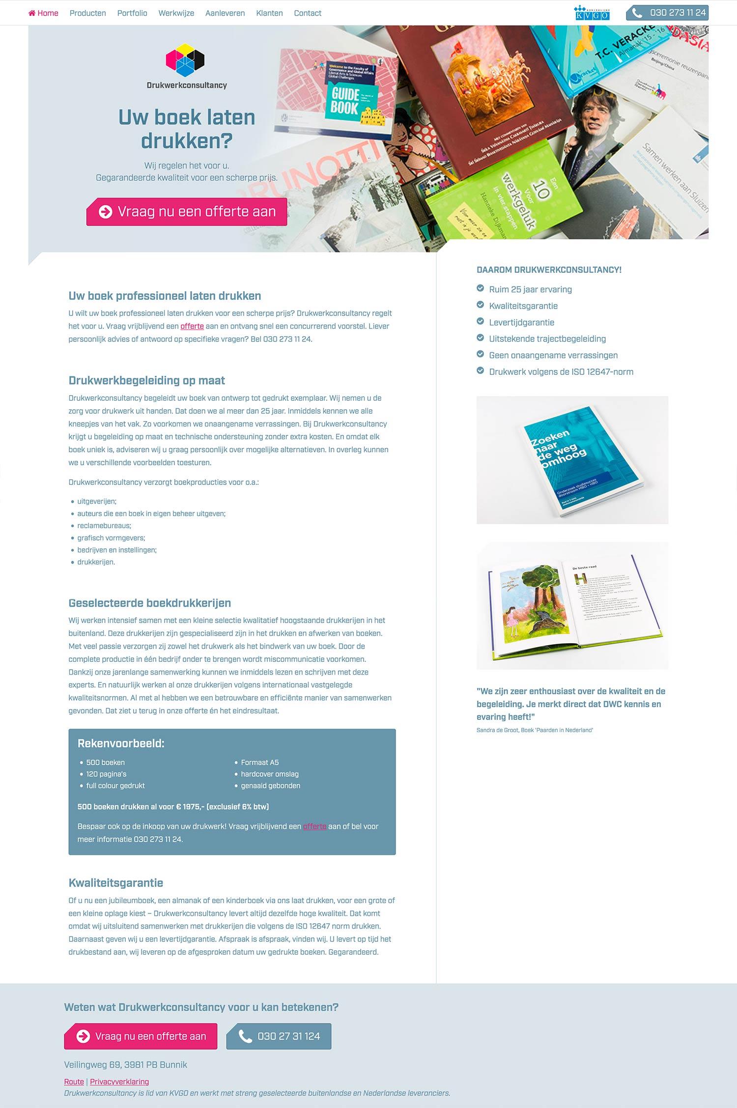 Wordpress Homepage DWC_studiosnh grafisch ontwerp